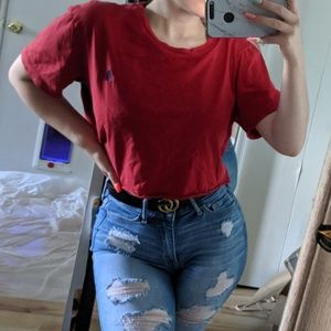 🥀 Polo Bright Red & Blue Crop Top 🥀
